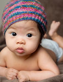 Cute Baby. A cute portrait of an Asian baby Stock Photography
