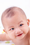 Cute Baby. Smiling over white background Royalty Free Stock Photography