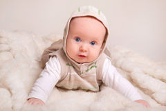 Cute baby (4 months old). Cute baby, studio shot(4 months old Royalty Free Stock Photos