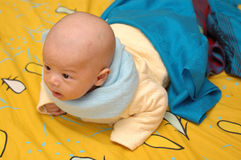 Cute baby. It is a cute chinese baby. he is 3 months Stock Image