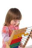 Cute baby with abacus Stock Photos