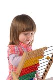 Cute baby with abacus Stock Photography
