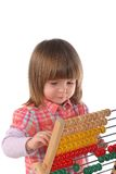 Cute baby with abacus Royalty Free Stock Image