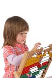 Cute baby with abacus Royalty Free Stock Images