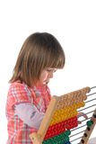 Cute baby with abacus Royalty Free Stock Photo