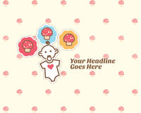 Cute baby album design template Royalty Free Stock Photography