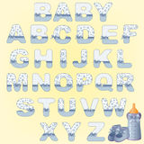 Cute baby alphabet Stock Images