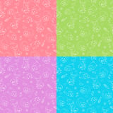 Cute baby animals. Seamless pattern with cute animals. four different color solutions Royalty Free Stock Images
