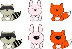 Cute baby animals cartoon set2 Royalty Free Stock Photography