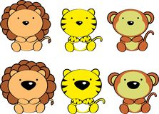Cute baby animals cartoon set4 Royalty Free Stock Photos