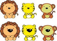 Cute baby animals cartoon set4. Cute baby animals cartoon set in vector format very easy to edit Royalty Free Stock Photos