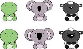 Cute baby animals cartoon set5 Stock Image