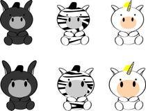 Cute baby animals cartoon set9 Royalty Free Stock Photo
