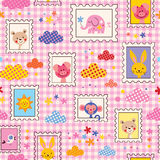 Cute baby animals pattern Royalty Free Stock Image
