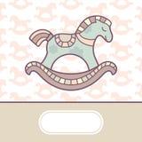 Cute baby arrival card. Illustration Stock Photos