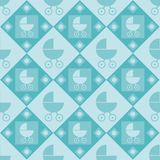Cute baby arrival pattern Stock Images