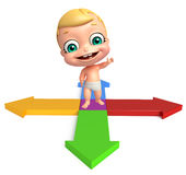 Cute baby with Arrow Stock Image
