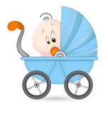 Cute Baby in Baby Stroller Stock Photography