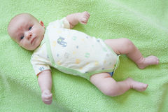 Cute Baby on Back Stock Photos