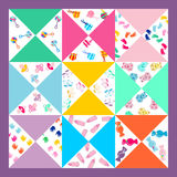 Cute baby background,seamless baby pattern,baby blanket Royalty Free Stock Images