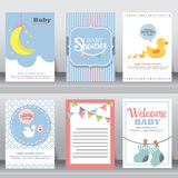 Cute baby background, vector Royalty Free Stock Photos