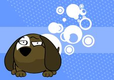 Cute baby ball puppy cartoon expression background Royalty Free Stock Images