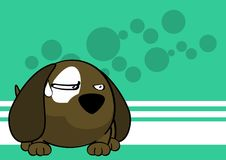 Grumpy baby ball puppy cartoon expression background Stock Photo