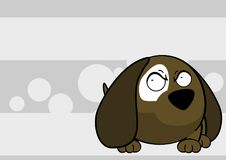 Little ball puppy cartoon expression background Royalty Free Stock Images