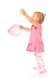 Cute baby with ballon. Cute happy baby girl with ballon Royalty Free Stock Photos