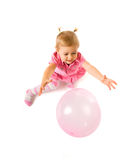 Cute baby with ballon. Cute happy baby girl with ballon Royalty Free Stock Images