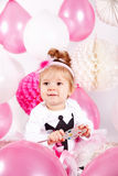 Cute baby with balloons Stock Photo