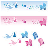 Cute baby banners Stock Photo