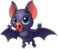 Cute baby bat flying. Illustration of Cute baby bat flying Stock Image