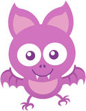 Cute baby bat smiling and flapping enthusiastically Royalty Free Stock Photo