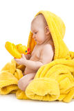 Cute baby after bath Royalty Free Stock Photos