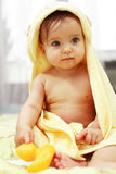Cute baby after bath Royalty Free Stock Image