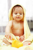 Cute baby after bath Royalty Free Stock Photography