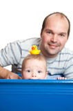 Cute baby in the bath tub Royalty Free Stock Photography