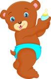 Cute baby bear cartoon Stock Photography