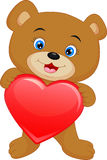 Cute baby bear cartoon Royalty Free Stock Image