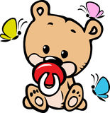 Cute baby bear illustration Royalty Free Stock Image