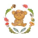 Cute baby bear for kindergarten, nursery, children clothing, kids pattern Stock Photo