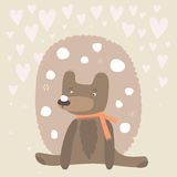 Cute baby bear post card Royalty Free Stock Images