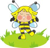 Cute baby bee Stock Images