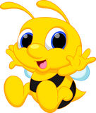 Cute baby bee cartoon Royalty Free Stock Images