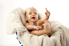 Cute Baby with Big Eyes Royalty Free Stock Image