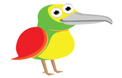 Cute baby bird cartoon Stock Photography