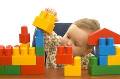 Cute baby with blocks Royalty Free Stock Photo