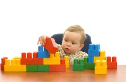 Cute baby with blocks Royalty Free Stock Image