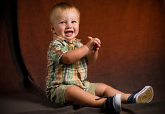 Cute Baby Boy Stock Photos
